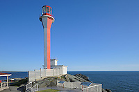 Cape Forchu Lightstation (Lighthouse) in Yarmouth Harbour (Atlantic Ocean)<br /> Yarmouth<br /> Nova Scotia<br /> Canada