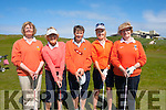 Sand Wedge<br /> -----------------<br /> Participating in Ladies Challenge cup at Ballybunion golf club last Saturday morning were Ballyheigue team L--R Eileen Cantillon,Eileen Buckley,Ann Leahy,Paula Mangon&amp;Eilish Delaney-Dalton.