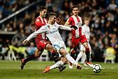 18th March 2018, Santiago Bernabeu, Madrid, Spain; La Liga football, Real Madrid versus Girona; Cristiano Ronaldo (Real Madrid) scores to make it (6-3)
