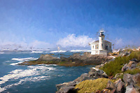 Coquille River Lighthouse in Bandon, Oregon