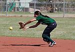 April 20, 2012:   University of Hawai'i Warrior second baseman Dara Pagaduan fields the ball against the Nevada Wolf Pack during their NCAA softball game played at Christina M. Hixson Softball Park on Friday in Reno, Nevada.