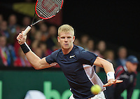 Gent, Belgium, November 27, 2015, First match,Davis Cup Final, Belgium-Great Britain, Kyle Edmund (GRB)<br /> © Henk Koster/Alamy Live News