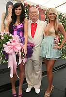 27 September 2017 - Hugh Marston Hefner aka &quot;Hef&quot; was an American magazine publisher, editor, businessman, and international playboy best known as the editor-in-chief and publisher of Playboy magazine, which he founded in 1953. Hefner was the founder and chief creative officer of Playboy Enterprises, the publishing group that operates the magazine. Hefner was also a political activist and philanthropist. File Photo: 08 May 2008 - Holmby Hills, California - Jayde Nicole, 2008 Playmate of the Year, Hugh Hefner and Sara Jean Underwood, 2007 Playmate of the Year. 2008 Playmate of the Year Luncheon held at the Playboy Mansion. Photo Credit: Russ Elliot/AdMedia<br />  (Newscom TagID: admphotos287918.jpg) [Photo via Newscom]