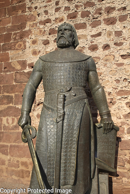 Statue of Dom Sancho I, Silves Castle, Algarve, Portugal