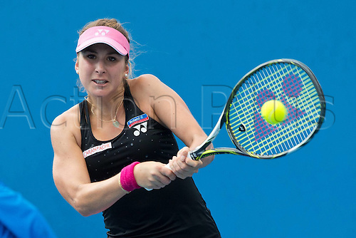 18.01.2016. Melbourne Park, Melbourne, Australia. Australian Open Tennis championships. Belinda Bencic (sui) ladies singles