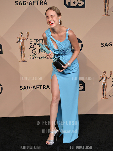 Brie Larson at the 22nd Annual Screen Actors Guild Awards at the Shrine Auditorium. <br /> January 30, 2016  Los Angeles, CA<br /> Picture: Paul Smith / Featureflash