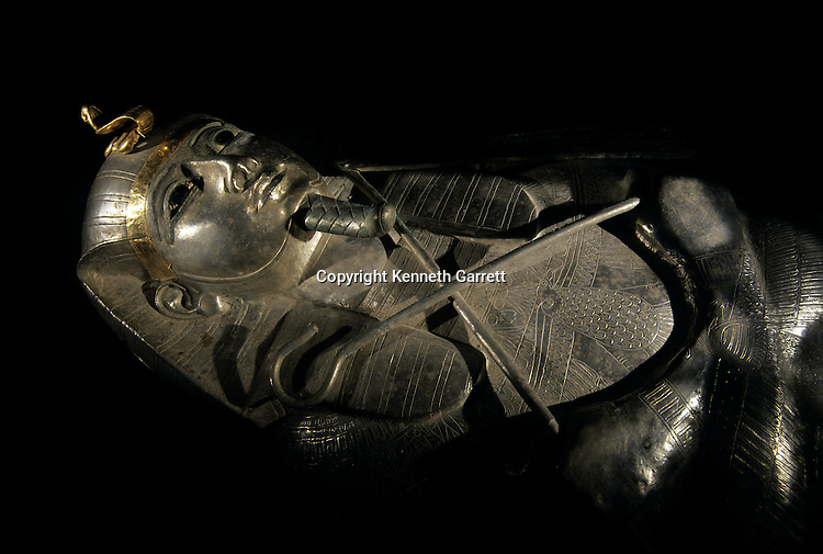 Silver and gold sarcophagus of Psusennes I,Third Intermediate Period