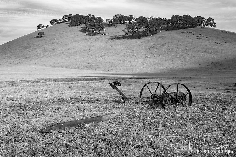 Abandoned farm equipment at Round Valley Regional Park near Byron, California