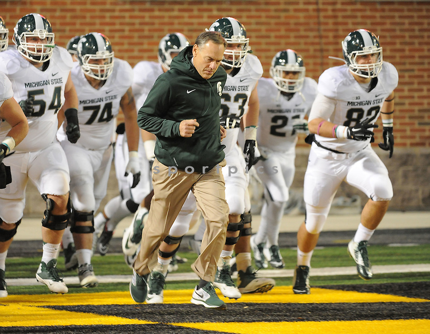 Michigan State Spartans Mark Dantonio (HC) during a game against the Maryland Terrapins on November 15, 2014 at Byrd Stadium in College Park, MD. Michigan State beat Maryland 37-15.