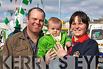Gary, Caoimhe and Geraldine O'Halloran Killarney enjoying a family day out at the St Patricks day parade in Killarney on Monday   Copyright Kerry's Eye 2008