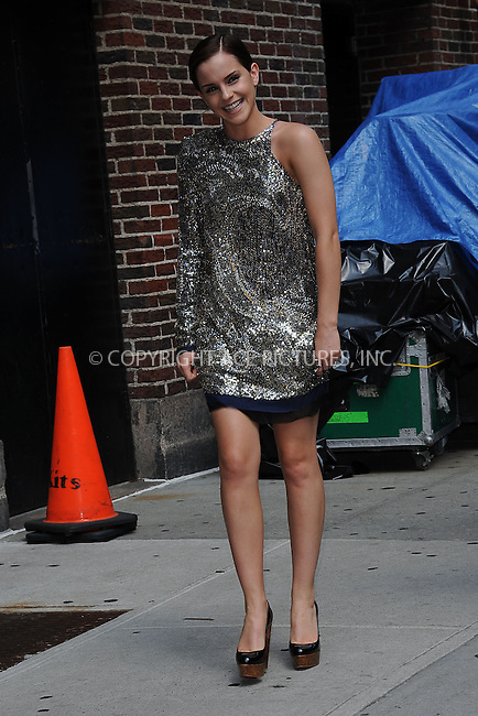 WWW.ACEPIXS.COM . . . . . .July 11, 2011...New York City...Emma Watson tapes the Late Show with David Letterman on July 11, 2011 in New York City....Please byline: KRISTIN CALLAHAN - ACEPIXS.COM.. . . . . . ..Ace Pictures, Inc: ..tel: (212) 243 8787 or (646) 769 0430..e-mail: info@acepixs.com..web: http://www.acepixs.com .