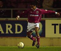 06/12/2003 - Photo  Peter Spurrier.FA Cup 2nd Rd - Northampton v Weston S Mare.Northamptons Derek Asamoah