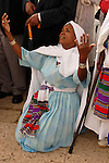 Israel, Jerusalem. A Jewish Ethiopian woman prays at the annual Sigd festival, November 2004<br />