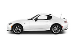 Car driver side profile view of a 2019 Mazda MX-5 RF Club 2 Door Targa