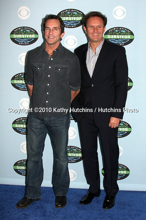 "Jeff Probst & Mark Burnett.arrivng at the ""Survivor"" 10 Year Anniverary Party .CBS Television CIty.Los Angeles, CA.January 9, 2010.©2010 Kathy Hutchins / Hutchins Photo...."