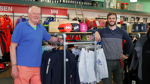 Viking Marine's Chandlery manager Alan Usher (left) and Shop Manager Dean Brien