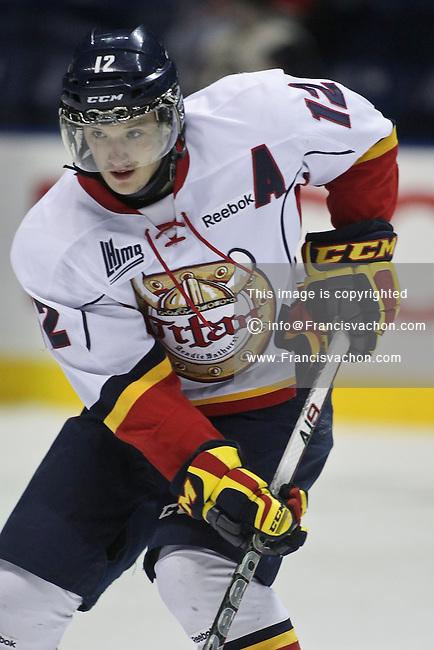 QMJHL (LHJMQ) hockey profile photo on Acadie-Bathurst Titan Christophe Lalancette November 21, 2012 at the Colisee Pepsi in Quebec city.