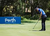 10th February 2018, Lake Karrinyup Country Club, Karrinyup, Australia; ISPS HANDA World Super 6 Perth golf, third round; Grant Forrest (SCT) putts