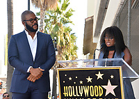 LOS ANGELES, CA. October 01, 2019: Tyler Perry & Crystal Fox at the Hollywood Walk of Fame Star Ceremony honoring Tyler Perry.<br /> Pictures: Paul Smith/Featureflash