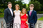 Pictured at the Presentation Tralee Debs ball at the Ballyroe Heights Hotel on Thursday, were, from l-r Liam Callou, Rachel Mahony, Niamh Callaghan and Dwyer Tobin