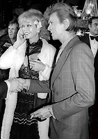 Monique Van Vooren and David Bowie 1977<br /> Photo By Adam Scull/PHOTOlink/MediaPunch