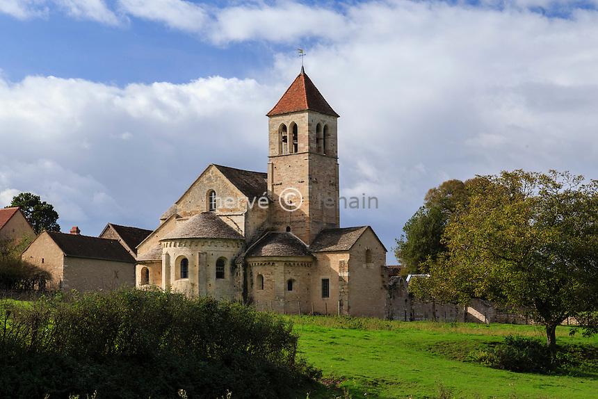 France, Saône-et-Loire (71), Chapaize, hameau de Lancharre, l'église // France, Saone et Loire, Chapaize, Lancharre hamlet, the church