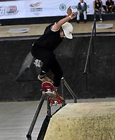 BOGOTA - COLOMBIA - 13 - 08 - 2017: Alana Smith, Skater de Estados Unidos, durante competencia en el Primer Campeonato Panamericano de Skateboarding, que se realiza en el Palacio de los Deportes en la Ciudad de Bogota. / Alana Smith, Skater from United States, during a competitions in the First Pan American Championship of Skateboarding, that takes place in the Palace of Sports in the City of Bogota. Photo: VizzorImage / Luis Ramirez / Staff.