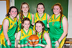 The St Brigid's Currow team that played Glenbeigh Falcons in the cup final in Killarney on Sunday front row l-r: Fiona Nelligan-Maguire, Aisling Moriarty. back row: Amy Galwey, Kerrie McCarthy, Leona McEnery and Rachel O'Connor