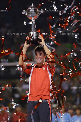 Kei Nishikori (JPN),   .OCTOBER 7, 2012 - Tennis : Rakuten Japan Open Tennis Championships 2012 Men's Singles final at Ariake Coliseum, Tokyo, Japan. (Photo by Jun Tsukida/AFLO SPORT) [0003]