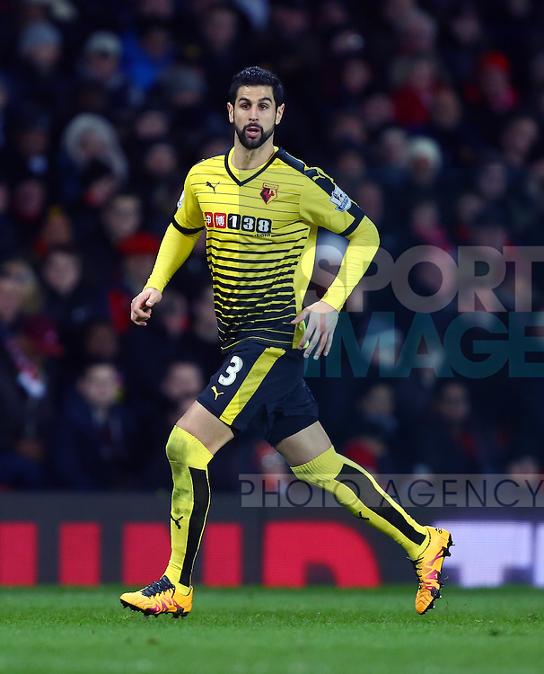 Miguel Britos of Watford - Barclay's Premier League - Manchester United vs Watford - Old Trafford - Manchester - 02/03/2016 Pic Philip Oldham/SportImage