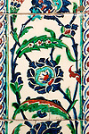 Iznik 20 - Iznik tiles in the tomb of Sultan Ahmet, Sultanahmet, Istanbul, Turkey