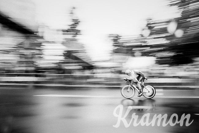Rick Zabel (DEU/Katusha) speeding along<br /> <br /> 104th Tour de France 2017<br /> Stage 1 (ITT) - Düsseldorf › Düsseldorf (14km)