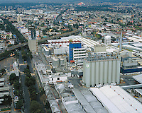 aerial photograph of the Modelo Corona brewery in Mexico City