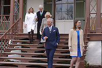 Washington, DC - March 19, 2015: His Royal Highness The Prince of Wales, accompanied by The Duchess of Cornwall (c), tours the Lincoln Cottage and Soldiers Home in the District of Columbia,  March 19, 2015, as part of a four-day USA visit. From left, Susan and Lester Fant III, Chairman of the Lincoln Cottage Site Counsel; The Duchess of Cornwall; The Prince of Wales and Michelle Smith, Benefactor of the Lincoln Cottage. (Photo by Don Baxter/Media Images International)