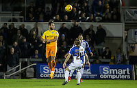 Sam Wood of Wycombe Wanderers clears the ball during the Sky Bet League 2 rearranged match between Bristol Rovers and Wycombe Wanderers at the Memorial Stadium, Bristol, England on 1 December 2015. Photo by Andy Rowland.
