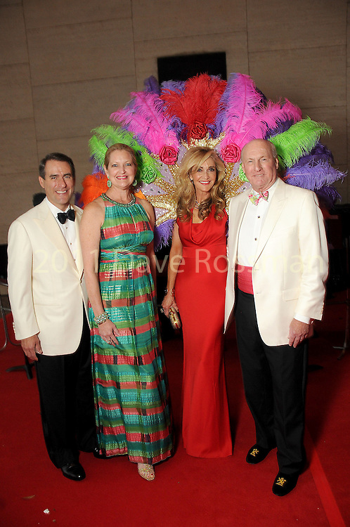 "From left: Steve and Joella Mach with chairs Jana and Scott Arnoldy at the 2016 Houston Symphony Gala ""Carnaval"" at Jones Hall Saturday May 14,2016(Dave Rossman Photo)"