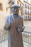 Statue of Don Ramon Nunez Martin, priest 1913-2006,  Trujillo, Caceres province, Extremadura, Spain