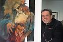 6 aprile 2020, Sassari, via Don Minzoni. Ettore Spada, uno dei figli di Costantino Spada, si è dedicato alla pittura durante il periodo della clausura.