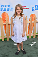 Raegan Revord at the world premiere for &quot;Peter Rabbit&quot; at The Grove, Los Angeles, USA 03 Feb. 2018<br /> Picture: Paul Smith/Featureflash/SilverHub 0208 004 5359 sales@silverhubmedia.com