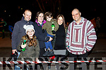 Justin Lyons (Tralee), Alyssa Kislosky, Charlene and Leanne Barron, Jennifer and David Kislosky at the firework display in Denny St on New Years Eve.