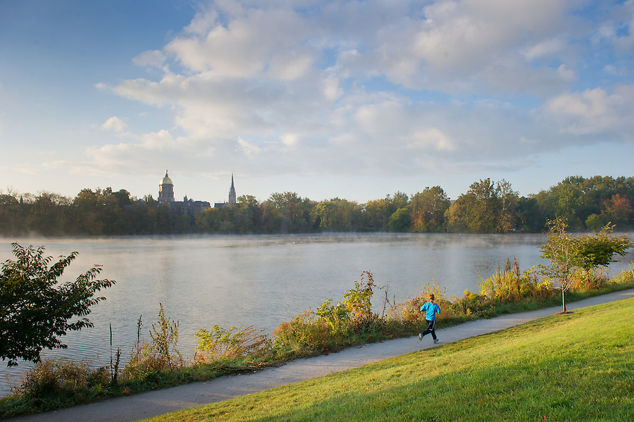 Oct. 11, 2012; Jogging path around St. Joseph's Lake..Photo by Matt Cashore/University of Notre Dame