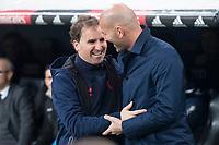 Real Madrid coach Zinedine Zidane and CD Numancia coach Jagoba Arrasate during King's Cup match between Real Madrid and CD Numancia at Santiago Bernabeu Stadium in Madrid, Spain. January 10, 2018. (ALTERPHOTOS/Borja B.Hojas) /NortePhoto.com NORTEPHOTOMEXICO
