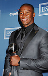 LOS ANGELES, CA - JULY 11: Demaryius Thomas poses in the press room during the 2012 ESPY Awards at Nokia Theatre L.A. Live on July 11, 2012 in Los Angeles, California.
