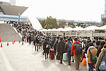 Visitors line up to enter the Comic Market 91 (Comiket) event at Tokyo Big Sight on December 29, 2016, Tokyo, Japan. Manga and anime fans arrived in the early morning hours on the opening day of the 3-day long event. Held twice a year in August and December, the Comiket has been promoting manga, anime, game and cosplay culture since its establishment in 1975. (Photo by Rodrigo Reyes Marin/AFLO)