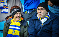 Leeds United fans enjoy the pre-match atmosphere<br /> <br /> Photographer Alex Dodd/CameraSport<br /> <br /> The EFL Sky Bet Championship - Leeds United v Queens Park Rangers - Saturday 8th December 2018 - Elland Road - Leeds<br /> <br /> World Copyright &copy; 2018 CameraSport. All rights reserved. 43 Linden Ave. Countesthorpe. Leicester. England. LE8 5PG - Tel: +44 (0) 116 277 4147 - admin@camerasport.com - www.camerasport.com