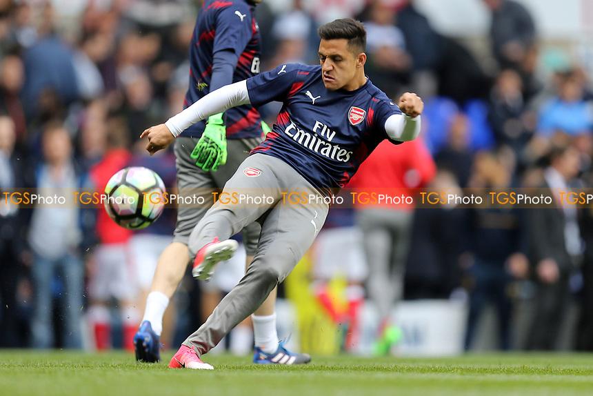 Alexis Sanchez of Arsenal beforeTottenham Hotspur vs Arsenal, Premier League Football at White Hart Lane on 30th April 2017
