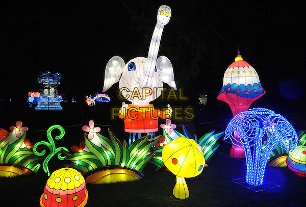 The displays at the Magical Lantern Festival, Chiswick House and Gardens, Chiswick House Grounds, London, UK, on Saturday 06 February 2016.<br /> CAP/CAN<br /> &copy;Can Nguyen/Capital Pictures