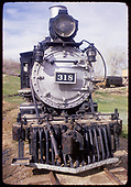 Head-on view of D&amp;RGW #318 at Colorado Railroad Museum.<br /> D&amp;RGW  Golden, CO