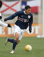 Brian Ching at Pizza Hut Park in Frisco, Texas, Sunday, Feb. 19, 2005.  USA won 4-0.