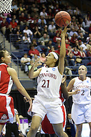 BERKELEY, CA - MARCH 30: Ros Gold-Onwude goes for a driving layup during Stanford's 84-66 win against the Ohio State Buckeyes on March 28, 2009 at Haas Pavilion in Berkeley, California.